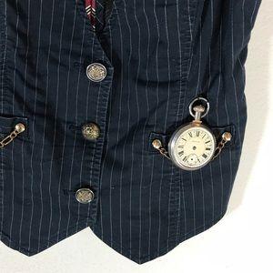 Vintage Jackets & Coats - Handmade Steampunk Alice Wonderland Rabbit Vest